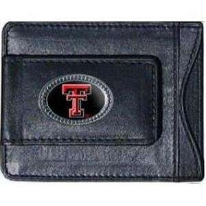 Texas Tech Red Raiders Black Leather Money Clip with