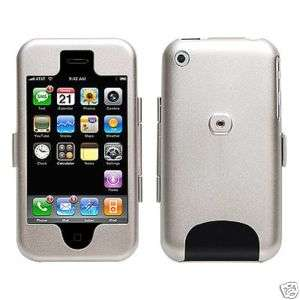Aluminum Metal Case for iPhone 2G (Silver) w/ belt clip