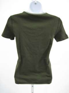 You are bidding on an AUTHENTIC PRADA Green Short Sleeve Shirt Top In