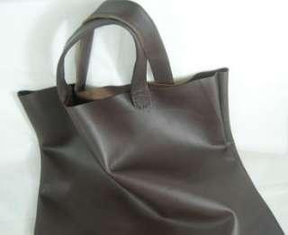 Real cow leather Christmas gift large tote shopping sack handbag
