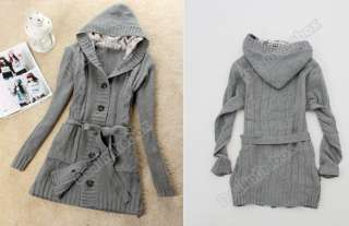 Womens Long Sleeve Hoodie Coat Cardigans trench Sweater