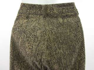 MCLAUGHLIN Brown Velour Snake Print Pants Sz 4
