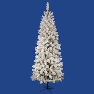 12 x 56 Flocked Pacific Pencil Christmas Tree w/ 1822T