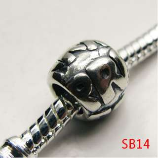 925 STERLING SILVER EUROPEAN BEAD CHARM FIT BRACELET SB