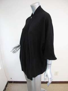 James Perse Black 3/4 Sleeve Draped Oversized Cashmere Sweater 0/S