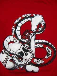 Snake & Skull L Tattoo Art Flash T shirt