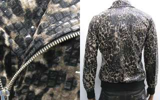 Shiny Leopard Print Punk Jacket M / Vintage Motorcycle Jacket