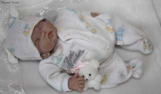 polymer clay baby girl 5 in art doll by Elizabeth Vandal 3day
