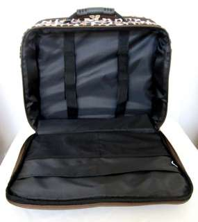 Computer/Laptop Briefcase Rolling Wheel Travel Bag Luggage Lrg Leopard