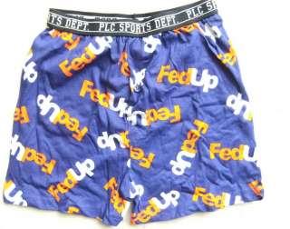 Boys Boxer Shorts Underwear FedUp Logo FedEx Mailing Service Parody