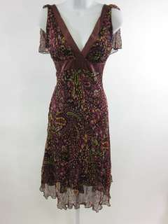 TO THE MAX Black Maroon Floral Sleeveless Dress Sz 0