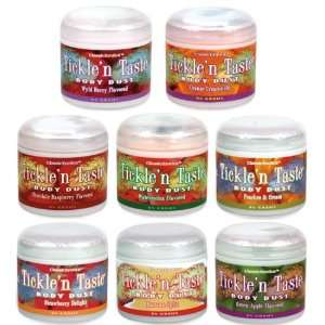 TICKLE & TASTE COMPLETELY EDIBLE FLAVORED BODY POWDER