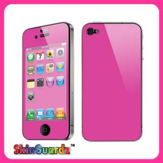Hot Pink Vinyl Case Decal Skin Cover Apple iPhone 4 / 4s / Verizon