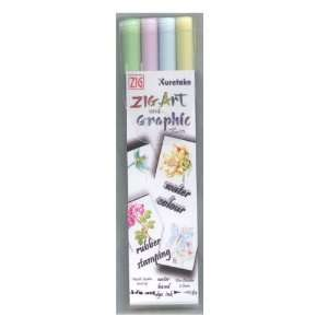 ZIG Art and Graphic Twin Marker 4 Piece Set Soft Colours