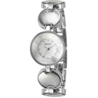 DKNY Watch NY4720 silver mother of pearl bracelet wrist