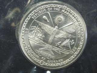 1988 Discovery Dhuttle $5 Marshall Islands Comm Coin