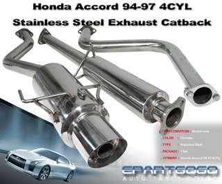94 97 HONDA ACCORD 4CYL JDM 3 CATBACK EXHAUST SYSTEM