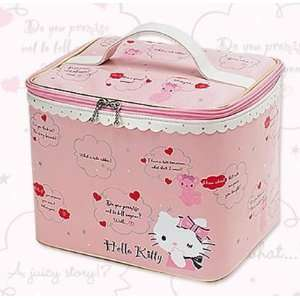 Sanrio Hello Kitty Ribbon W/bear Cosmetic Case Japan Beauty