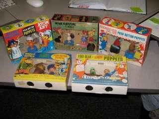 Wilma Pebbles Flintstone 1960s Kohner push puppet Hanna Barbera