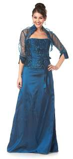 New Formal Mother Of The Bride Gown Special Occasion Evening Dress M