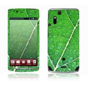 Sony Ericsson Xperia Acro Decal Skin   Green Leaf Texture