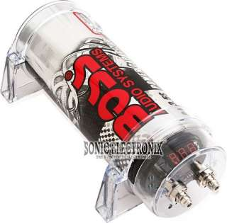Boss CAP3.5S 3.5 Farad Car Audio Digital Capacitor Silver Chrome Cap