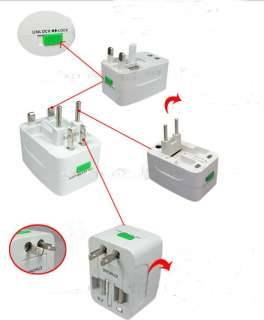 plug white converts power outlet when traveling to other countries led