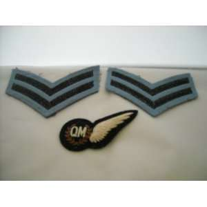 Set of 3 Royal Air Force Half Wing On Cloth & Corp