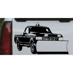 Snow Plow Truck Business Car Window Wall Laptop Decal Sticker    Black