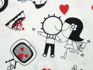 Timeless Treasures Husband Wife Marriage Cartoon Fabric