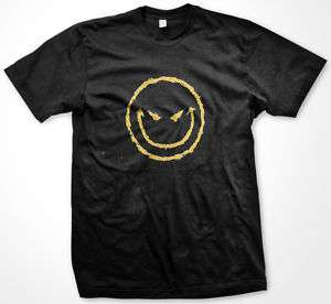 Evil Smiley Face Sinister Mean Gothic Mens T shirt