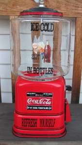Vintage 1940s Victor Universal Vending Gumball Machine Restored in