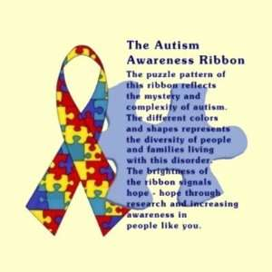 The Autism Awareness Ribbon Round Sticker: Everything Else
