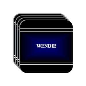 Personal Name Gift   WENDIE Set of 4 Mini Mousepad Coasters (black