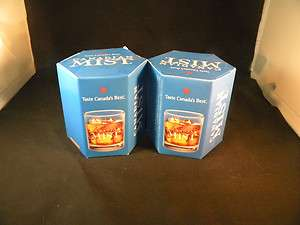 NEW BOXED CANADIAN MIST WHISKEY ROCKS GLASSES BAR