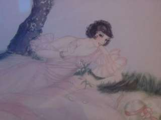 Art Deco Lady Louis Icart Era Drypoint Etching Allene Lamour Art