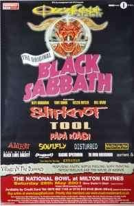 Original Black Sabbath Tool Subway Tour Poster UK 01