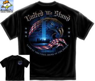 NEW 9 11 TRIBUTE SHIRT (S 3XL) UNITED WE STAND