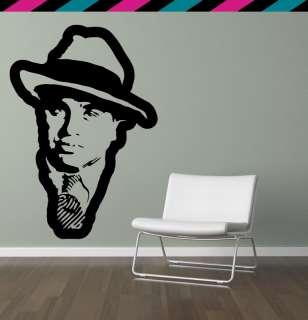 Al Capone gangster tommy gun gangsta wall decal sticker tattoo