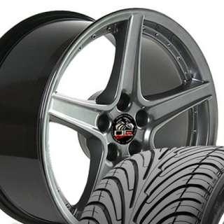 18 Rim Fits Mustang® Saleen Wheels Nexen 3000 ZR Tires Hyper Silver