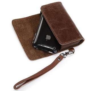 Vintage leather iPhone cell phone Carrying Case, protective Wallet