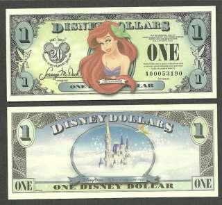 Disney $1 Dollar 2007 A Series 20th Anniversary, ARIEL, LITTLE MERMAID