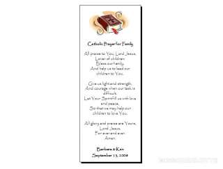 56 Personalized Wedding Bookmark Catholic Family Prayer
