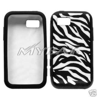Samsung Eternity A867 Black Zebra silicone Cover Case