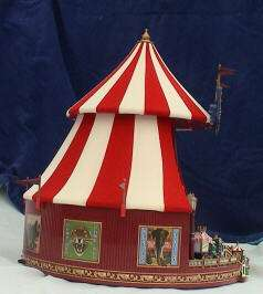 79881 BIG TOP CIRCUS WORLDS FAIR MR CHRISTMAS MUSIC BOX FELT ANIMATED