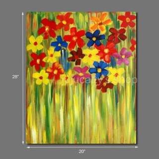 Abstract Oil painting canvas Art floral wall decor #786