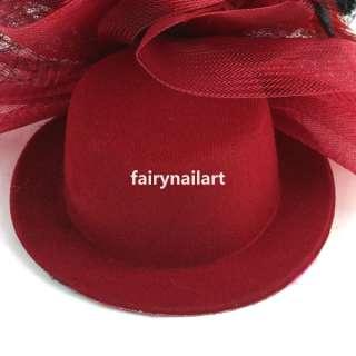 Fascinator Hat Cap Headpiece Vintage Costume Makeup w/ Clip