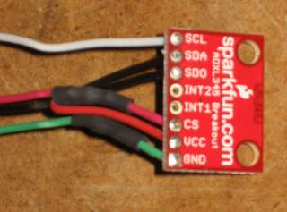 Measuring acceleration with adxl335 and arduino uno