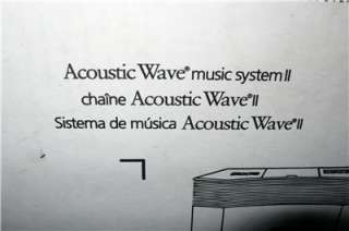 OF ALOHA NEW IN BOX BOSE ACOUSTIC WAVE MUSIC SYSTEM II WITH REMOTE