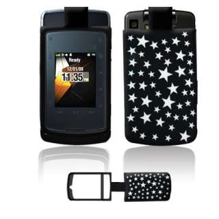 Stature Cell Phone Black Silver Stars Laser Silicone Skin Case Cover